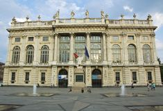 Madama di Palazzo, palazzo storico a Torino Fotografie Stock Libere da Diritti