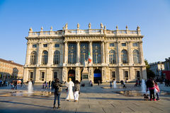 Madama Palace Square, Turin, Italy Stock Photography