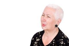 Madame aînée avec le mal de dents Photos stock