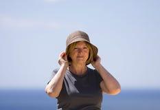 Madame aînée des vacances Image libre de droits