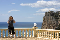 Madame aînée des vacances Image stock