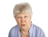 Madame aînée triste Photos stock