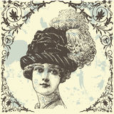 Madame antique Image stock