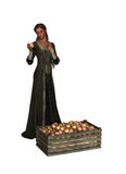 Madame With Apples illustration stock