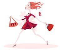 Madame arrogante Is Off Shopping illustration stock