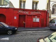 Madame Arthur club exterior near Pigalle in Paris, France Stock Photo