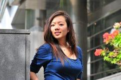 Madame asiatique 27 de bureau Photographie stock