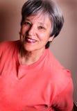 Madame assez plus âgée Photographie stock libre de droits