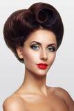 Madame avec des cheveux sous forme de coeur Image stock