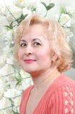 Madame avec l'oeil heureux Photos libres de droits