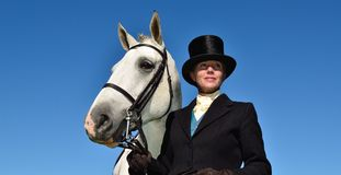 Madame avec le cheval Images libres de droits