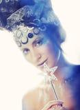 Madame avec le visage créatif Image libre de droits