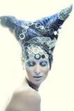 Madame avec le visage créatif Images libres de droits