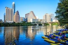 Madame Bird Lake Downtown, Austin, le Texas Images libres de droits