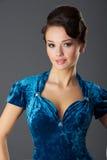Madame In Blue Photographie stock libre de droits