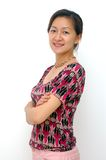 Madame chinoise heureuse Photographie stock libre de droits