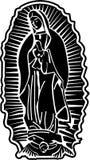 Madame d'art de vecteur de Guadalupe images stock