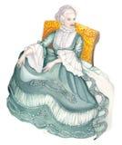 Madame dans la robe antique 02 images libres de droits