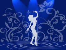Madame dans le bleu Image libre de droits