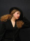Madame dans le chapeau Photos libres de droits