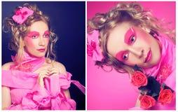 Madame dans le rose. Photographie stock libre de droits