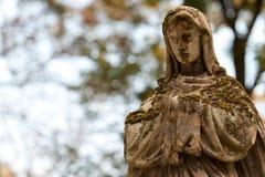 Madame de monument de Guadalupe sur un cimetière Photographie stock