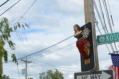 Madame de statue de Salem, Salem, le Massachusetts Photographie stock libre de droits