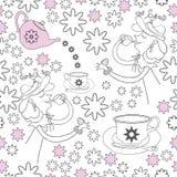 Madame de thé, neige et thé de Fleur-jardin Photos stock