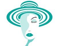 Madame de turquoise Image libre de droits