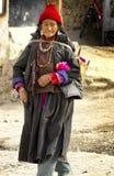 Madame du Thibet dans Ladakh Photographie stock libre de droits