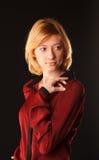 Madame en rouge Image stock