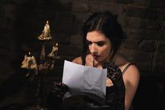 Madame et lettre Photos stock