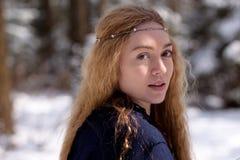 Madame et neige Image libre de droits