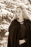 Madame et neige Photos libres de droits