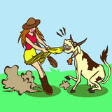 Madame Fun de lait Photo libre de droits
