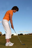 Madame Golfer Photo stock