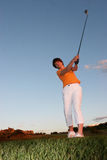 Madame Golfer Photo libre de droits