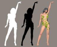 Madame Ivy illustration stock