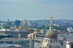 Madame Justice Overlooking London à partir du dessus d'Old Bailey photos libres de droits
