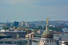 Madame Justice Overlooking London à partir du dessus d'Old Bailey photographie stock