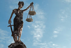 Madame Justice - Temida (Themis) Image libre de droits