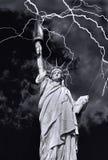 Madame Liberty dans une tempête image libre de droits