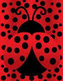 Madame mignonne Bug sur la polka Dot Background illustration de vecteur