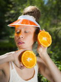 Madame orange Image stock
