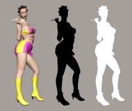 Madame sexy illustration libre de droits