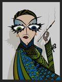 Madame smoker. Stock Images