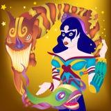 Madame tour magique illustration stock