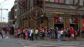 Madame Tussaud museum Amsterdam  City of Amsterdam stock video