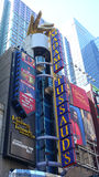 Madame Tussauds. The exterior of Madame Tussauds, a wax museums, in Times Square royalty free stock images