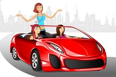 Madame urbaine dans le véhicule Photo stock